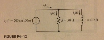 The RL circuit shown is assumed to be operati