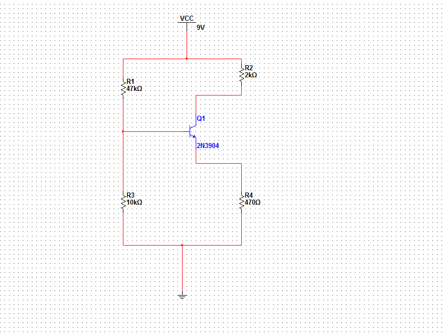 I need to calculate ... Voltage from emitter to co