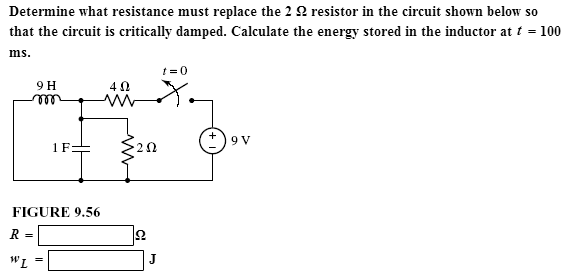 Determine what resistance must replace the 2 Ohm r