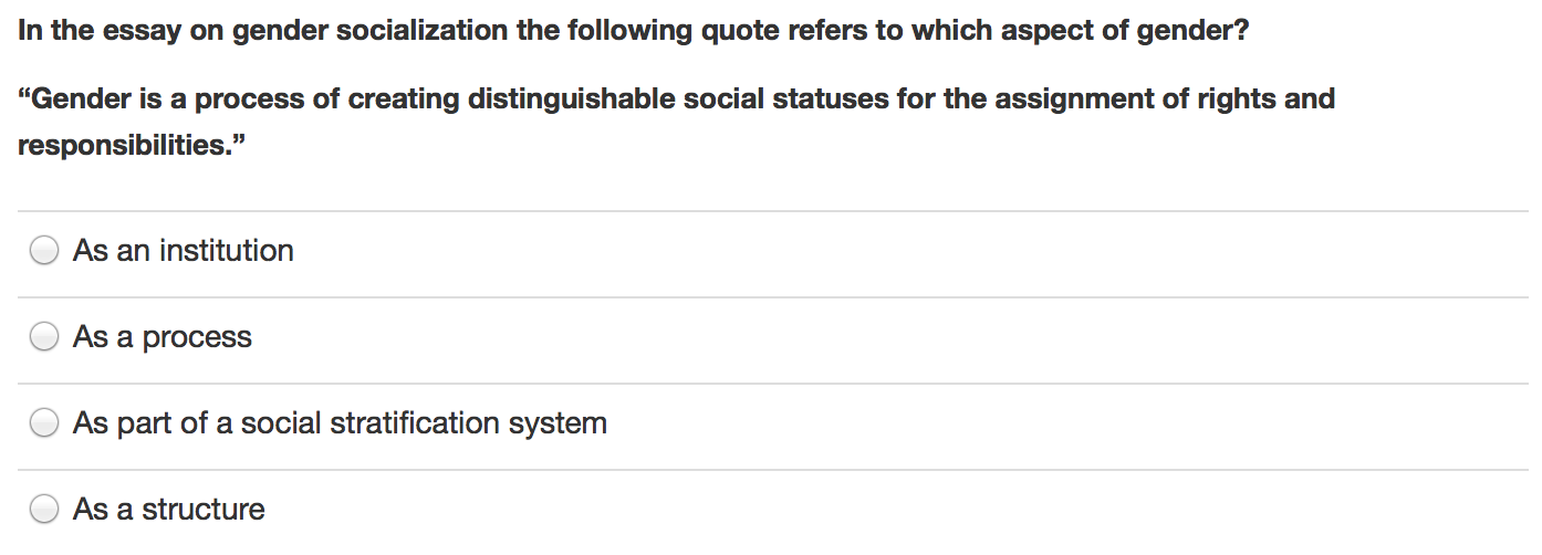 essay questions on socialization