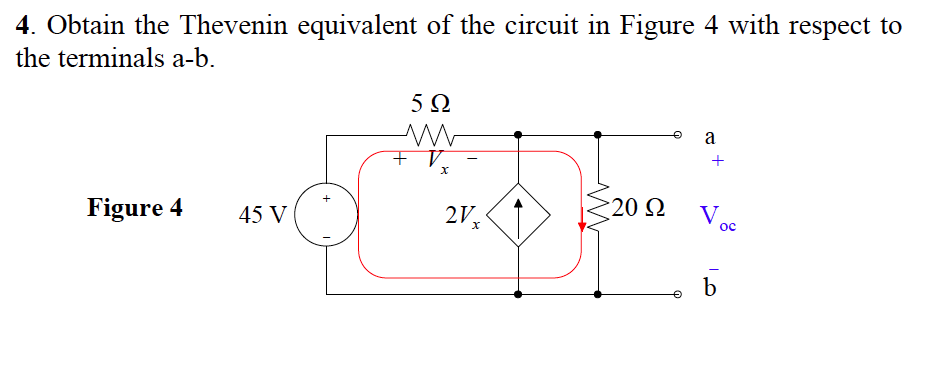 Obtain the Thevenin equivalent of the circuit in F