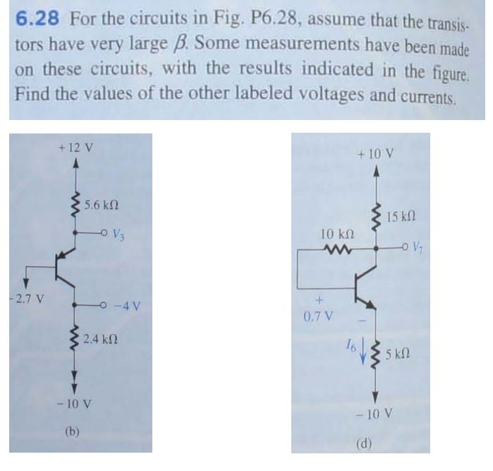 For the circuits in Fig. P6.28, assume that the tr