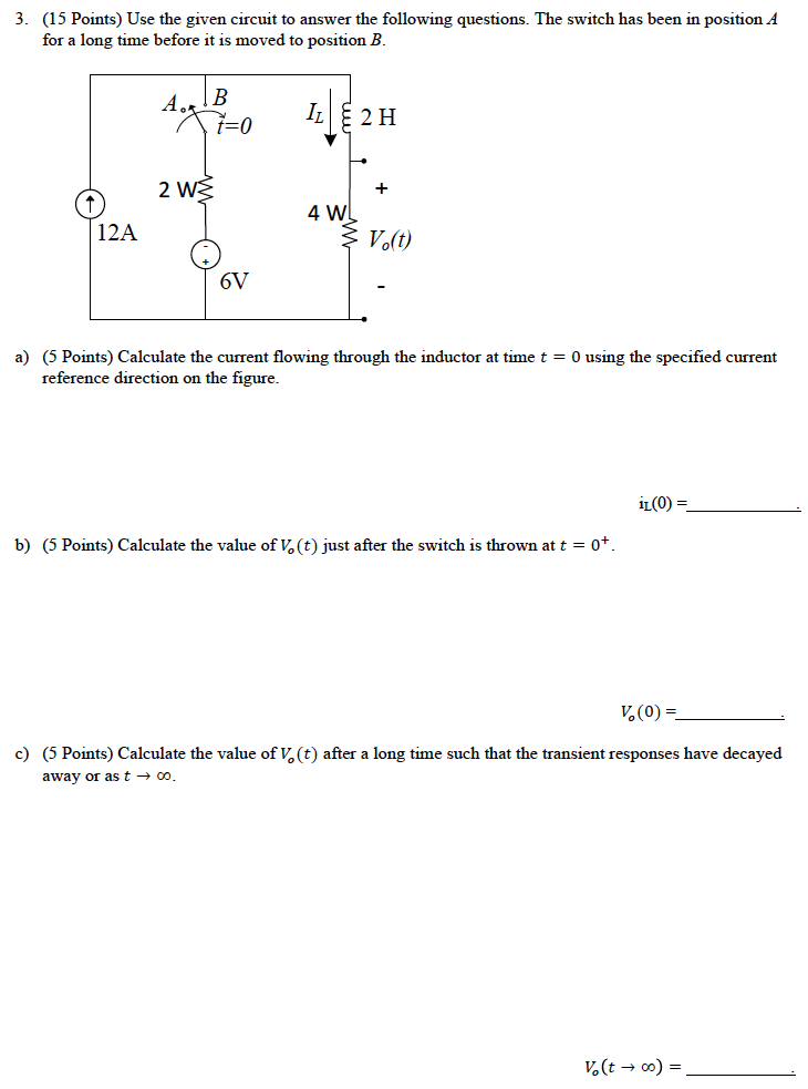 Use the given circuit to answer the following ques