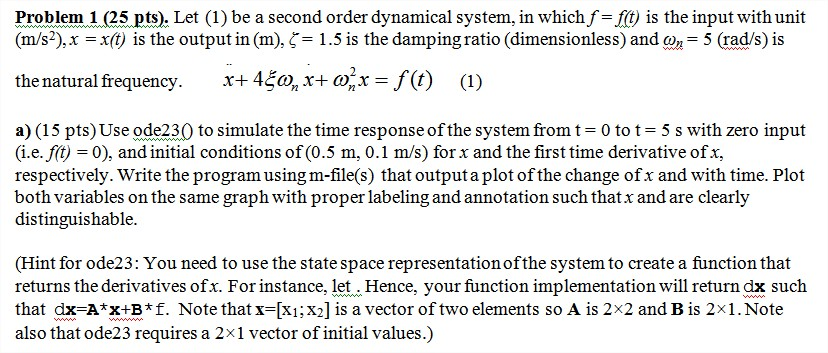 Let (1)be a second order dynamical system, in whic