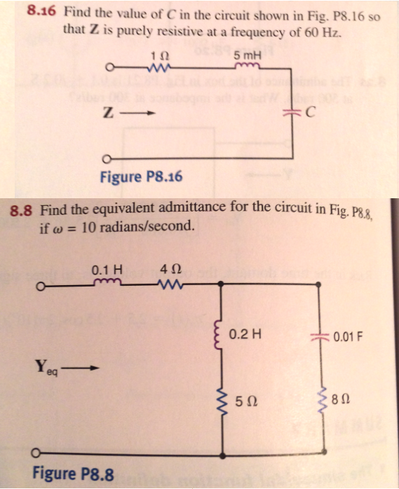 Find the value of C in the circuit shown in Fig. P