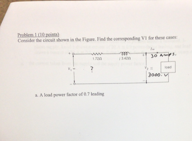 Consider the circuit shown in the Figure. Find the