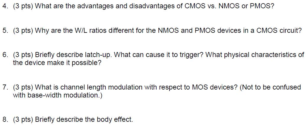 What are the advantages and disadvantages of CMOS