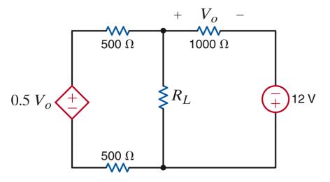 Find RL For Maximum Power Transfer And The Maximum...   Chegg.com
