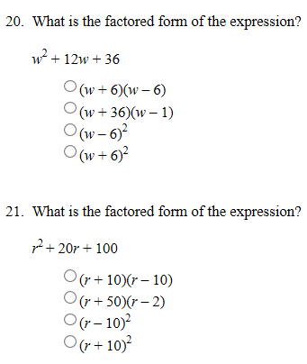 What Is The Factored Form Of The Expression? W2^ +... | Chegg.com