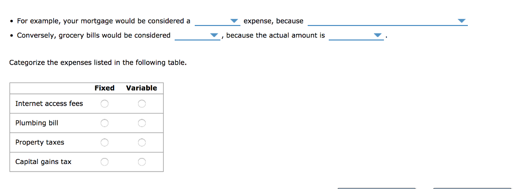 expense statement