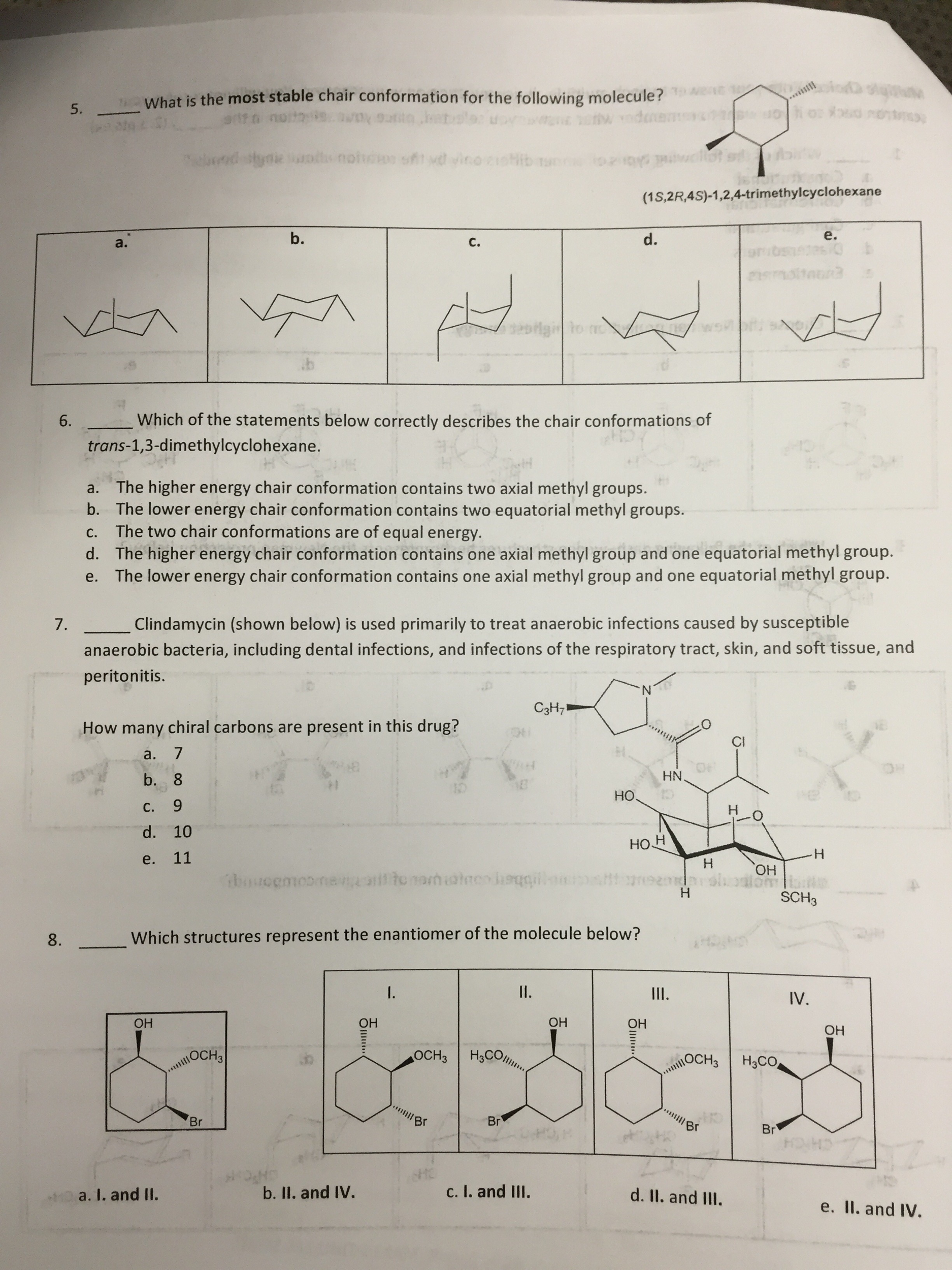 which of the statements below correctly describes com organic chemistry help homework assignment