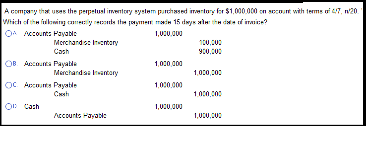 perpetual inventory system questions Firstly, let's revise the two methods of tracking the quantity of goods on hand a perpetual inventory system keeps continual track of inventory balances, typically.