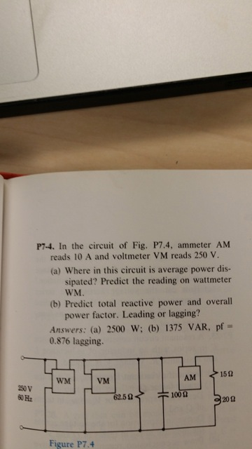 In the circuit of Fig. P7.4, ammeter AM reads 10 A
