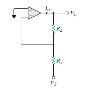 Design an op-amp circuit that has a gain of -10 us