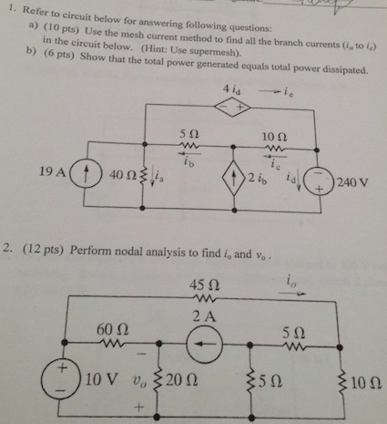 Refer to circuit below for answering following que