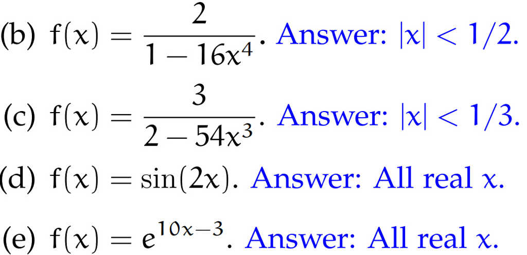Solved: 1-16x4 . Answer: |x| 〈 1/2 3. Answer: Ixl 〈 1 /3 ...