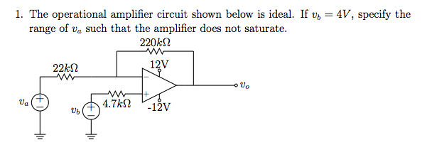 The operational ampli?er circuit shown below is id