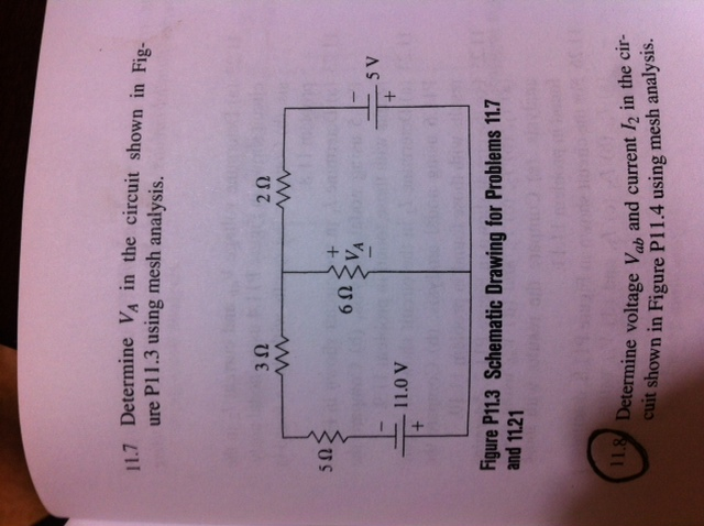 Determine VA in the circuit shown in Figure P11.3