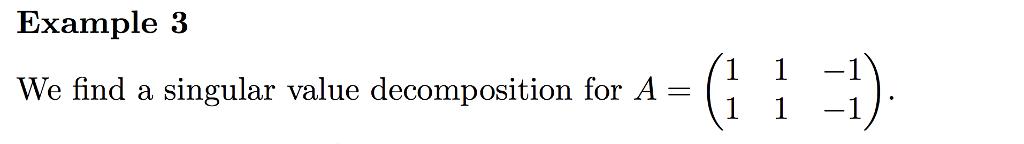 Solved: We Find A Singular Value Decomposition For A = (1 ...