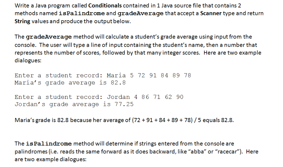 Solved: Write A Java Program Called Conditionals Contained ...