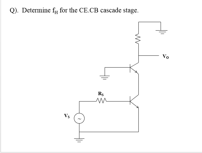 Determine fH for the CE.CB cascade stage.