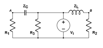 The voltage source for the circuit in figure is si