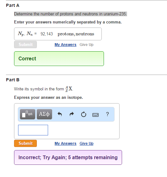Determine The Number Of Protons And Neutrons In Ur... | Chegg.com