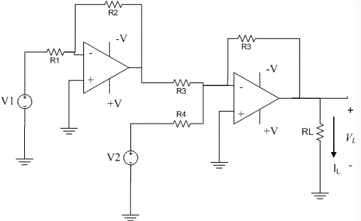 Consider the circuit shown. R1 = 11 kOhms, R2 =