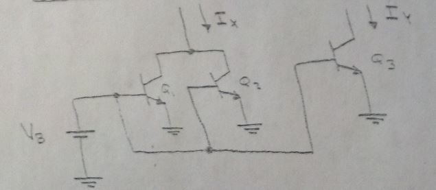 The circuit shown below has Is1=Is2 = 1 times 10^-