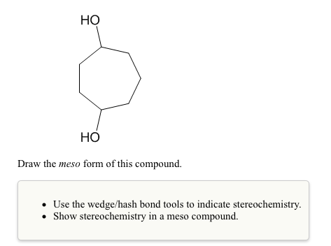 Draw The Meso Form Of This Compound. Use The Wedge... | Chegg.com
