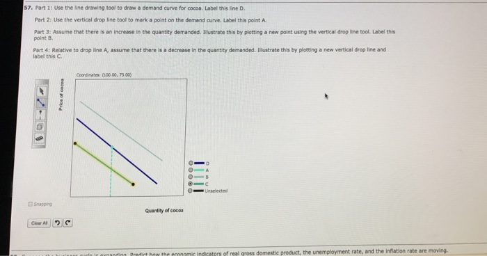 Drawing Smooth Lines With Cocos D : Solved use the line drawing tool to draw a demand curve f