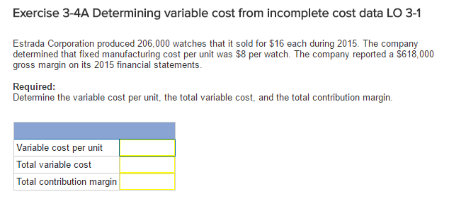how to get variable cost per unit sold