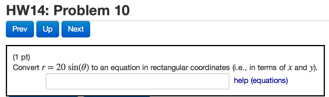 Convert R = 20 Sin(theta) To An Equation In Rectan... | Chegg.com