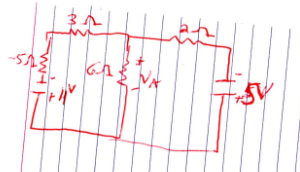 Determine Va from the below circuit using mesh ana