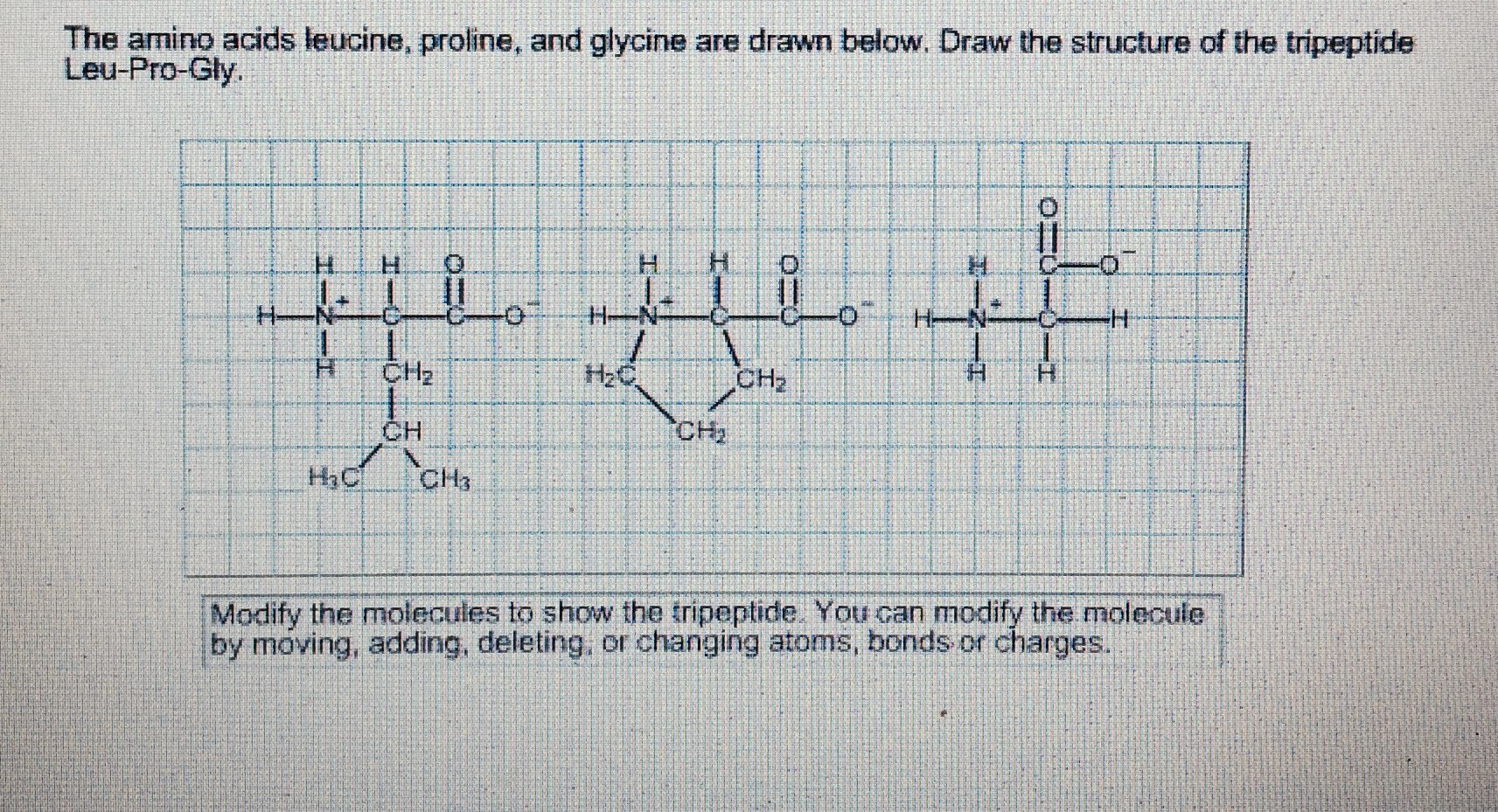 how to draw a tripeptide