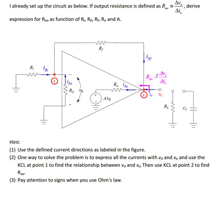 I already set up the circuit as below. If output r