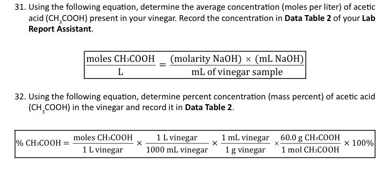 vinegar acetic acid