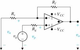 What is the output voltage of the noninverting-amp
