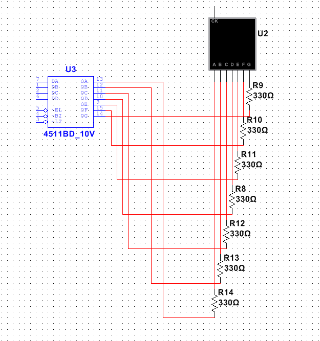 JUST CONNECT THE 7 SEGMENT DISPLAY TO THE CIRCUIT