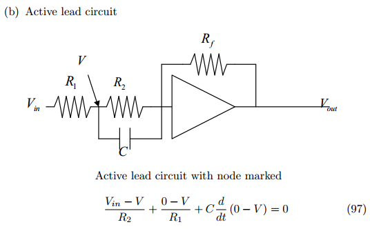 Active lead circuit Active lead circuit with node