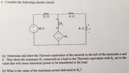 Consider the following electric circuit. Determine