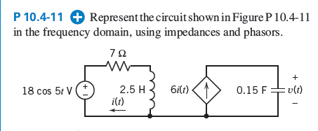 Represent the circuit shown in Figure P 10.4-11 in