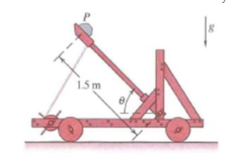 A toy catapult exerts a constant force of 10 N aga