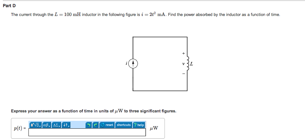 For the following circuit, what is the current thr