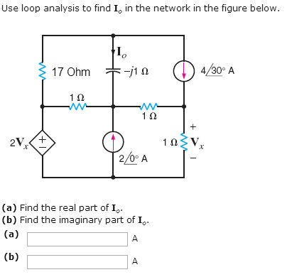 Use loop analysis to find Io in the network in the