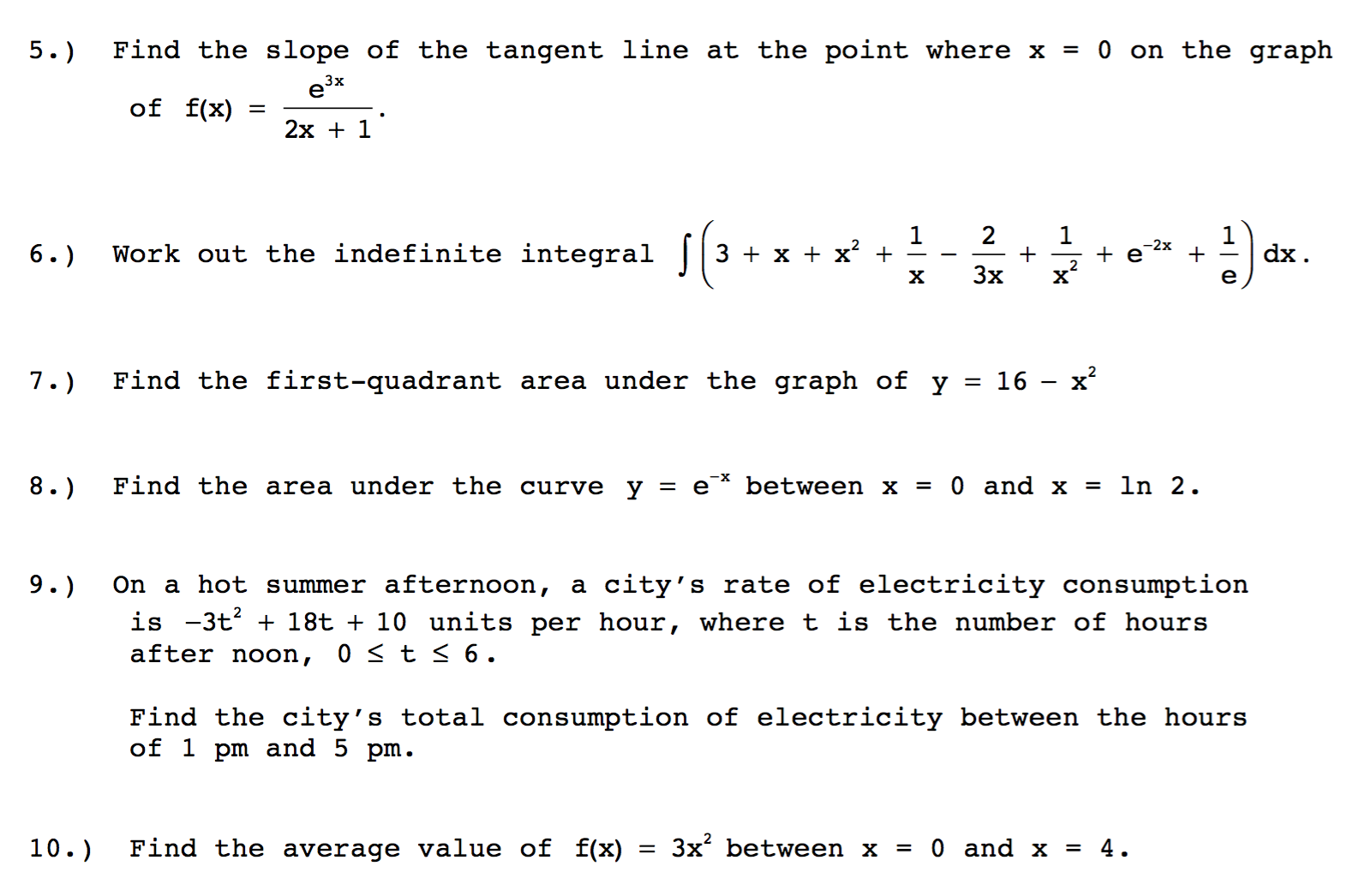Find The Slope Of The Tangent Line At The Point Where