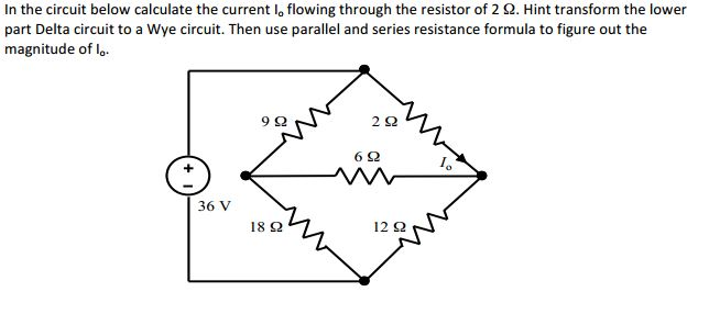 In the circuit below calculate the current I0 flow