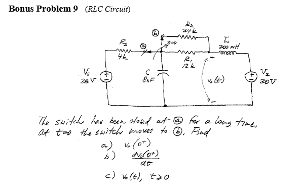 (time constant in RL Circuits, Alexander 7.14) Fi