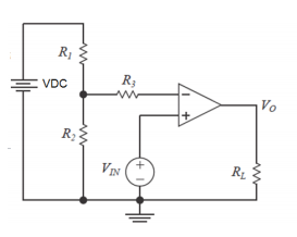 For the circuit below, the opamp has parameters: