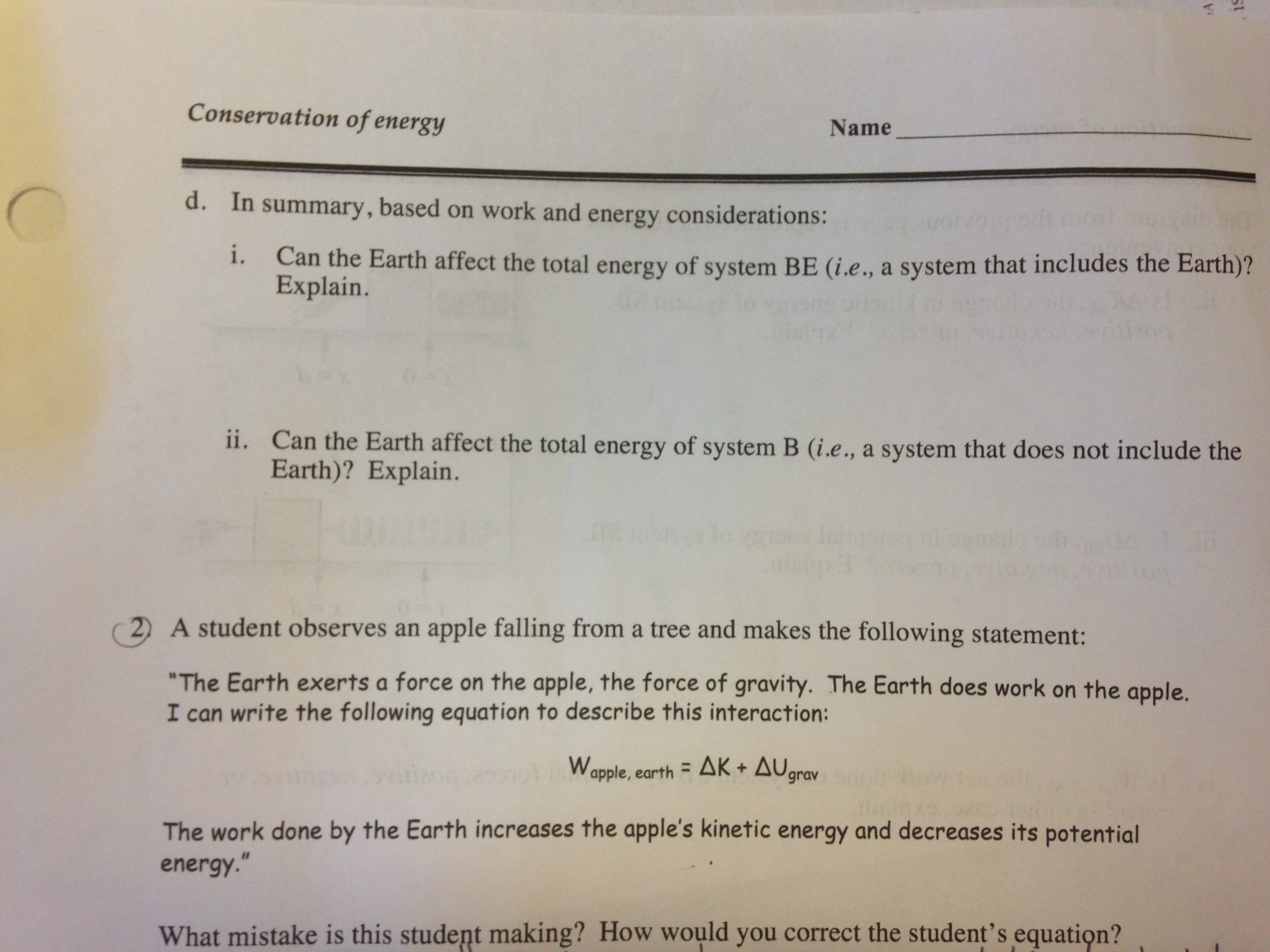 Worksheet The Earth Helps Me By Worksheet can someone help me with number 1 on this workshee chegg com there are 4 parts abcd and small to it as well so i would really appreciate if you all part t